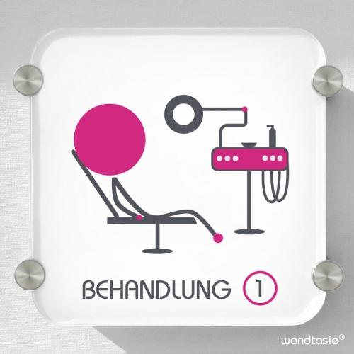 Personalisiertes Schild Herz « FUßPFLEGE 02 »  Türschild Name Podologe Praxis