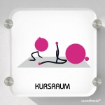 Schild Kursraum, Yoga, Mutter Kind Turnen